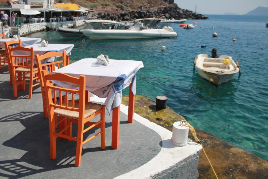 на къмпинг в Гърция, таверна