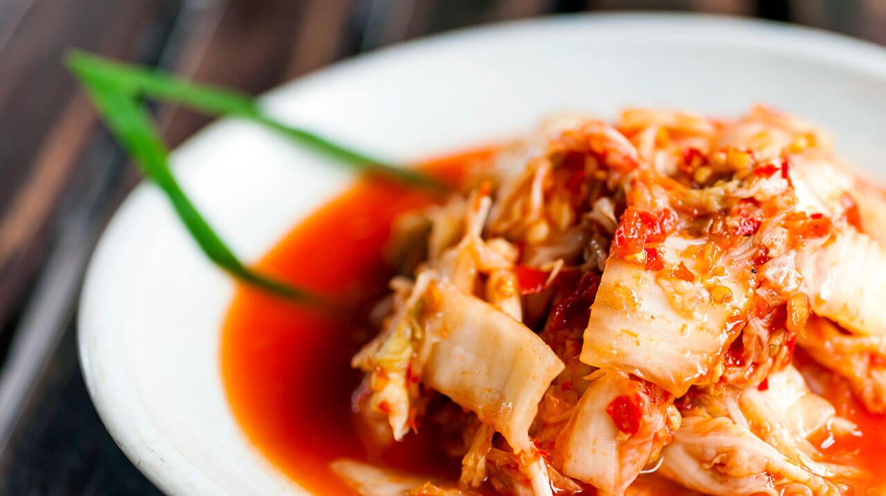 Кимчи, срещу подуване на корема